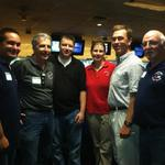 Some of the Oakwood Lanes staff with 3 time U.S. Open champ Kelly Kulick